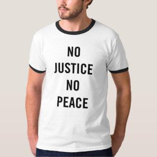 No Justice, No Peace. Men's Ringer T. T-Shirt