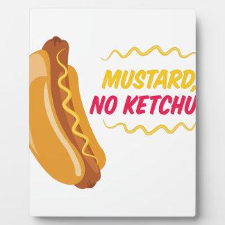 No Ketchup Plaque