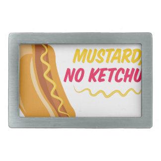 No Ketchup Rectangular Belt Buckles