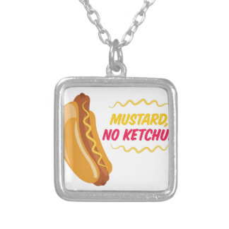 No Ketchup Silver Plated Necklace
