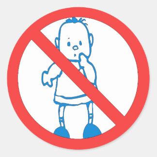 No Kids Allowed Classic Round Sticker