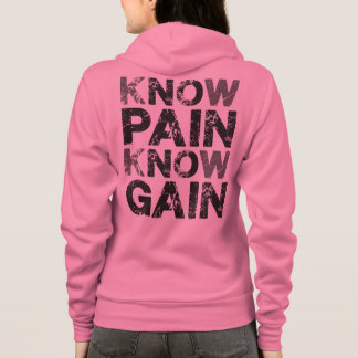 No (know) Pain, No Gain Hoodie