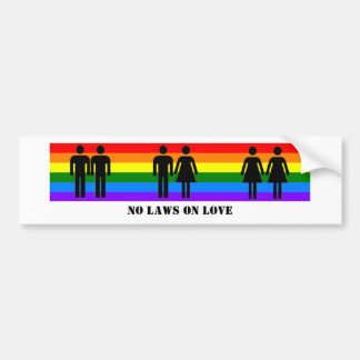 No Laws On Love Bumper Sticker