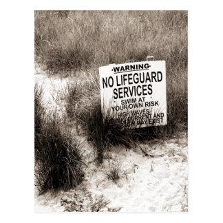 No Lifeguard on Duty Postcard