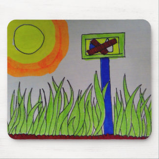 No-Likes Allowed Grass Field, sunny Mouse Pad