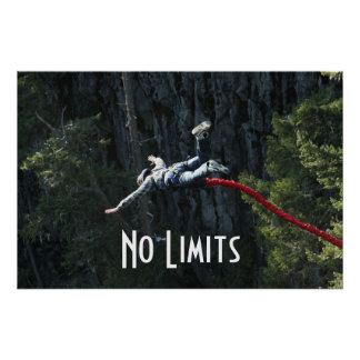 No Limits Bungee Jumping Poster