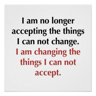No Longer Accepting What I Can Not Change Poster