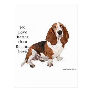 No Love Better than Rescue Love Postcard