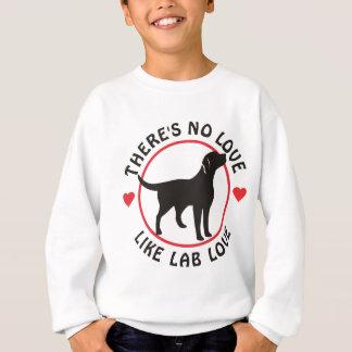 No Love Like Lab Love-Black Sweatshirt