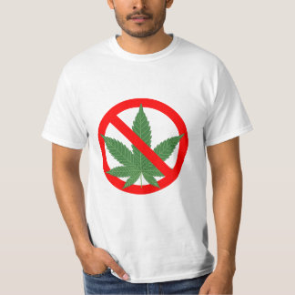 No Marijuana Prohibit Cannabis T-Shirt
