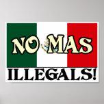 No Mas Illegals Print