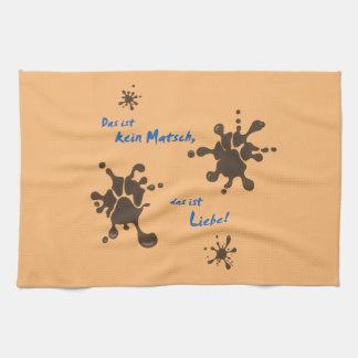No Matsch - love Tea Towel