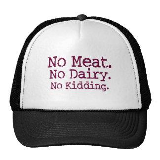 No Meat Vegan Message Cap