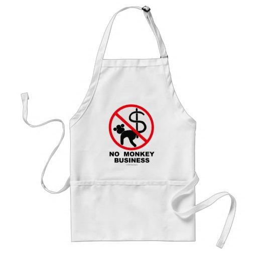 No monkey business apron