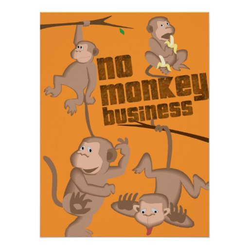 No Monkey Business | Kids Poster