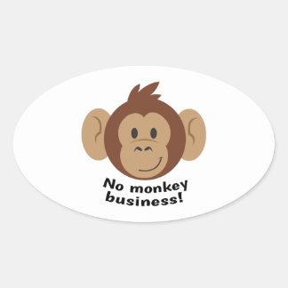 No Monkey Business Oval Sticker