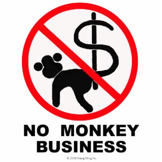 No monkey business photo sculpture
