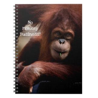 """No Monkey Business!"" Spiral Notebook"
