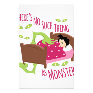 No Monsters Stationery