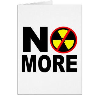 No More Anti-Nuclear Protest Slogan Card