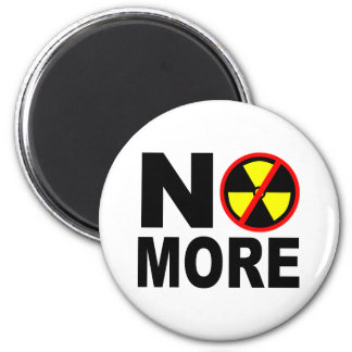 No More Anti-Nuclear Protest Slogan 6 Cm Round Magnet