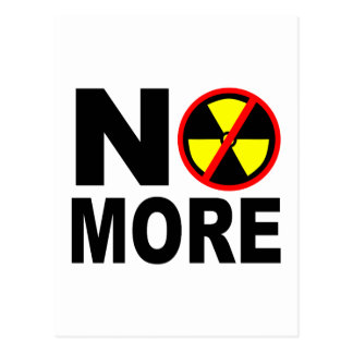 No More Anti-Nuclear Protest Slogan Post Card