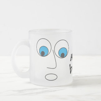 No more beer Scared Man Face Funny Frosted Glass Coffee Mug