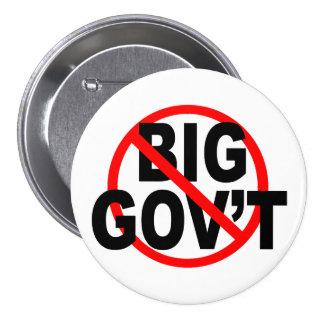 No More Big Government buttons