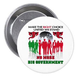 No More Big Government Pinback Buttons