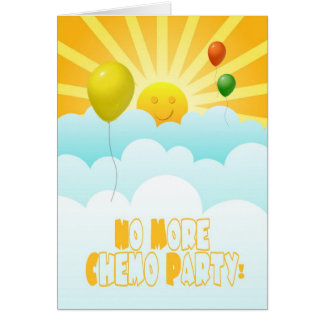 No More Chemo Balloons & Sunshine Invitation