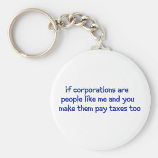 No More Corporate Welfare Basic Round Button Key Ring