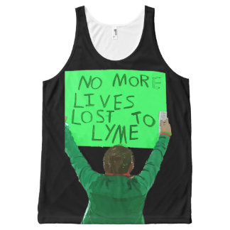 No More Lives Lost to Lyme All-Over Print Tank Top