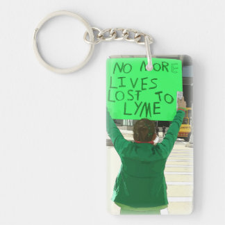 No More Lives Lost to Lyme Disease Key Chain