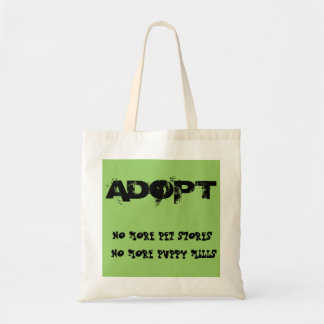No More Pet Stores and Puppy Mills Tote Canvas Bags