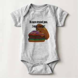 No more strained peas baby bodysuit