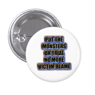 No more victim-blame 3 cm round badge