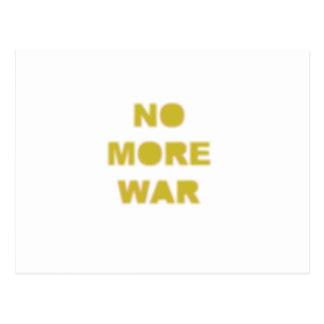 No More War Stencil Post Card