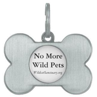 No More Wild Pets dog tag