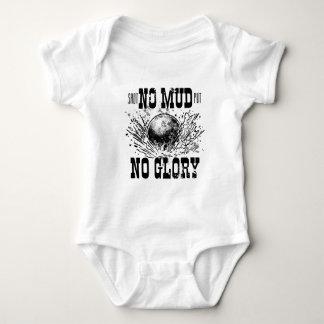 no mud no glory baby bodysuit