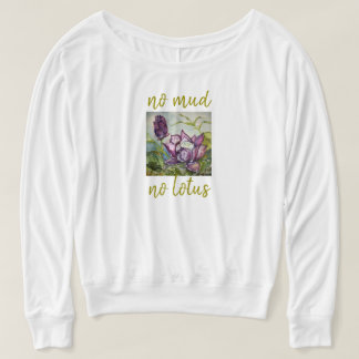 No Mud No Lotus Watercolor Art Flowy Muscle Tank