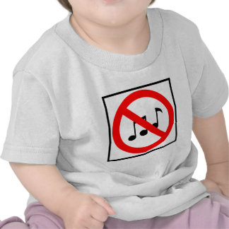 No Music Zone  Highway Sign Tees