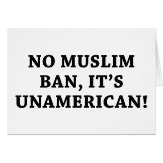 No Muslim Ban Card