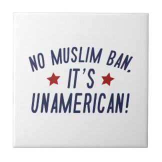 No Muslim Ban Tile