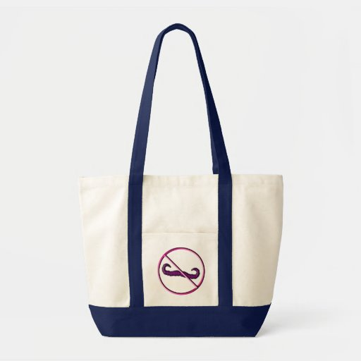 No Mustache, Moustache Grocery or Overnight Bag