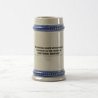 No nation can preserve freedom continual warfare coffee mug