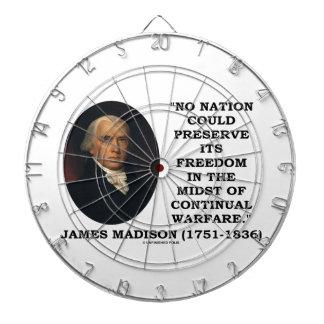 No Nation Preserve Its Freedom Continual Warfare Dart Boards