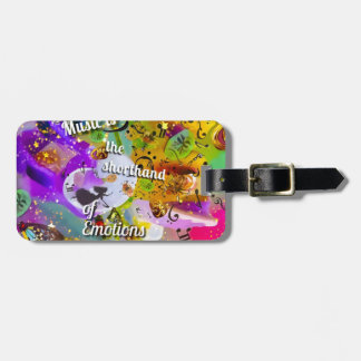 No need to talk between musical notes luggage tag