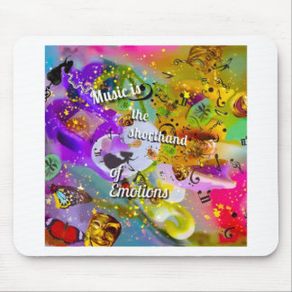 No need to talk between musical notes mouse pad