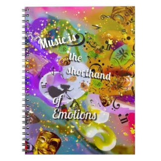 No need to talk between musical notes notebooks