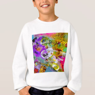 No need to talk between musical notes sweatshirt
